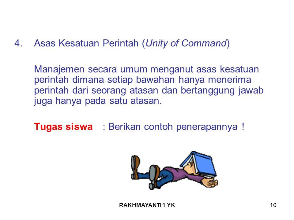 Asas Kesatuan Perintah (Unity of Command)