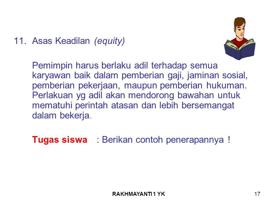 11. Asas Keadilan (equity)