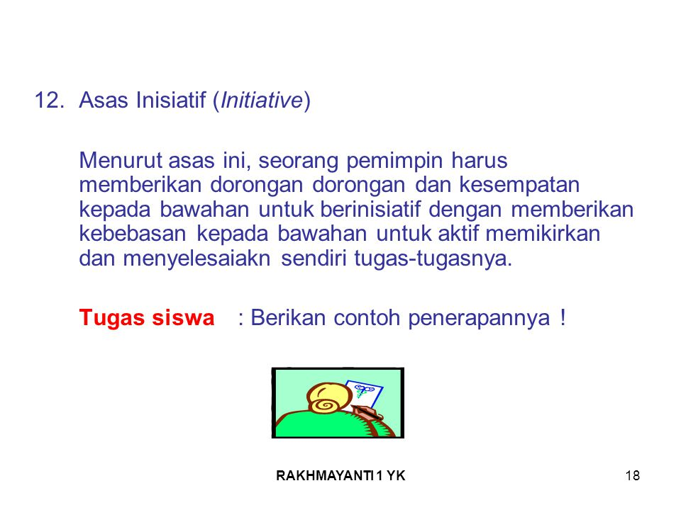 Asas Inisiatif (Initiative)