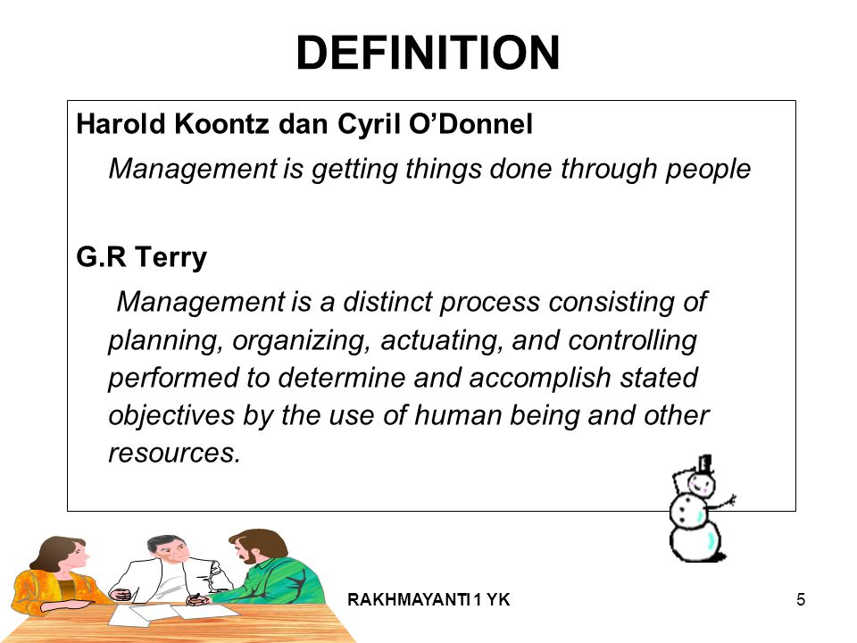 DEFINITION Harold Koontz dan Cyril O'Donnel