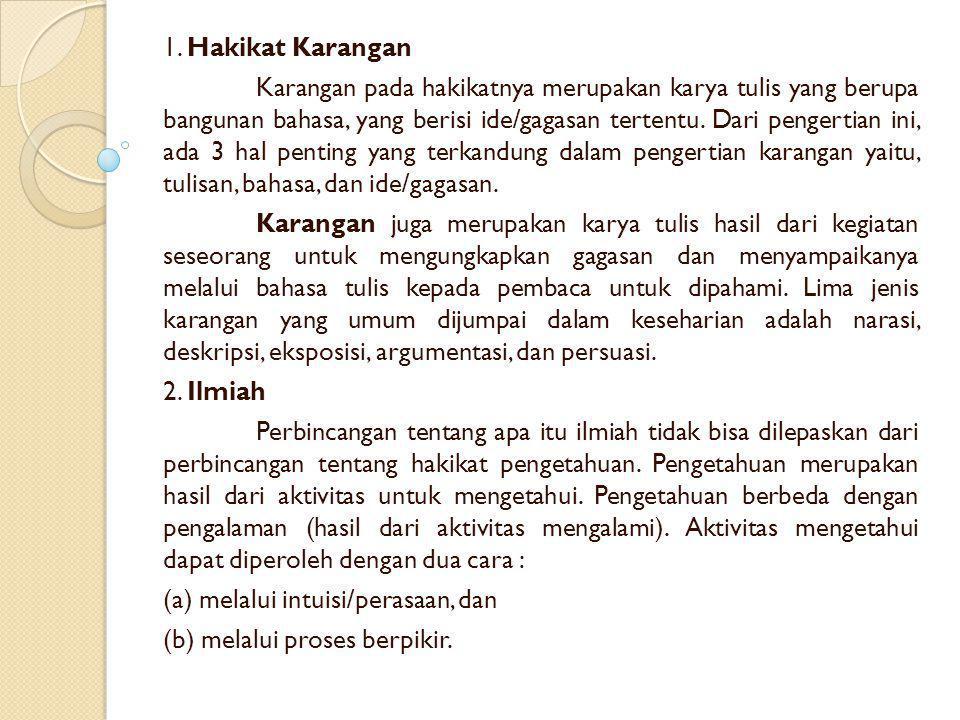 1. Hakikat Karangan