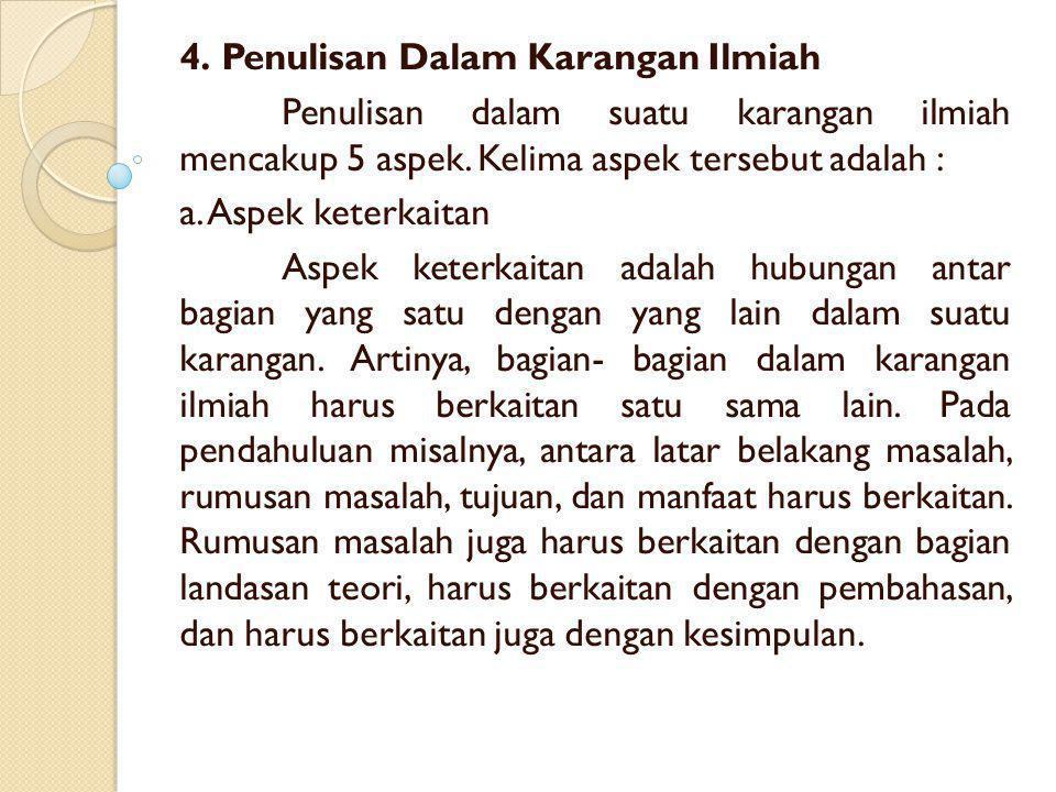 4. Penulisan Dalam Karangan Ilmiah