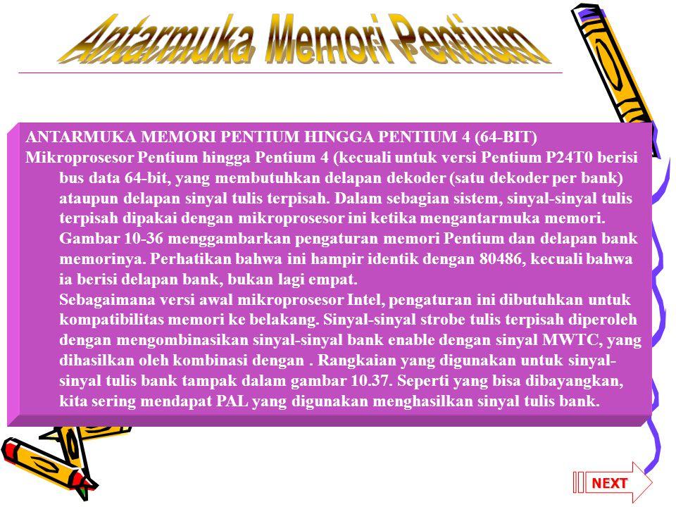 Antarmuka Memori Pentium