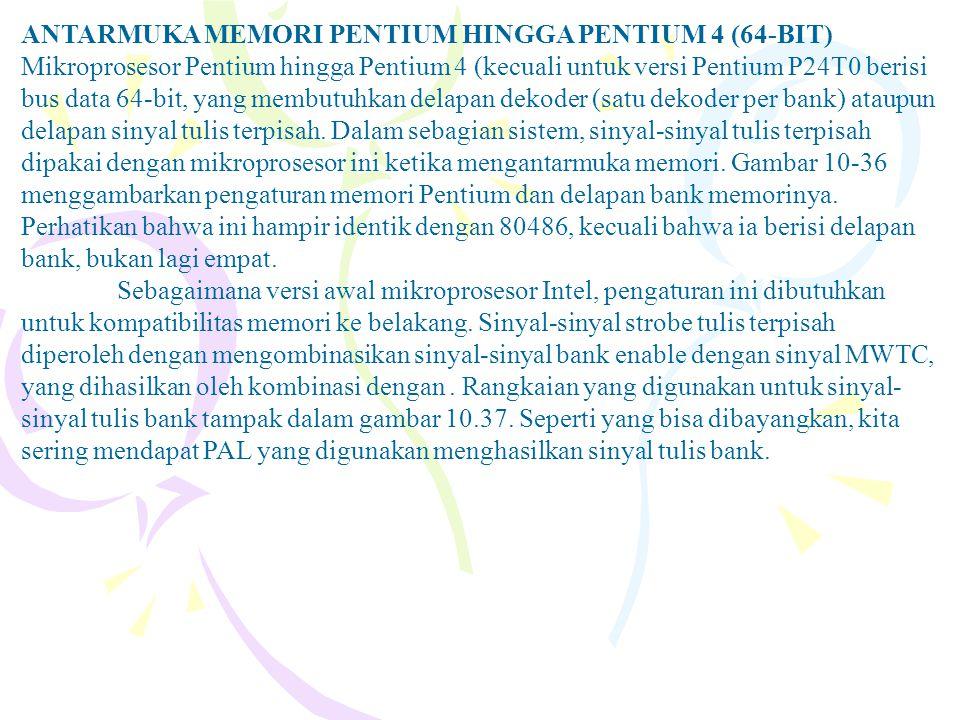 ANTARMUKA MEMORI PENTIUM HINGGA PENTIUM 4 (64-BIT)