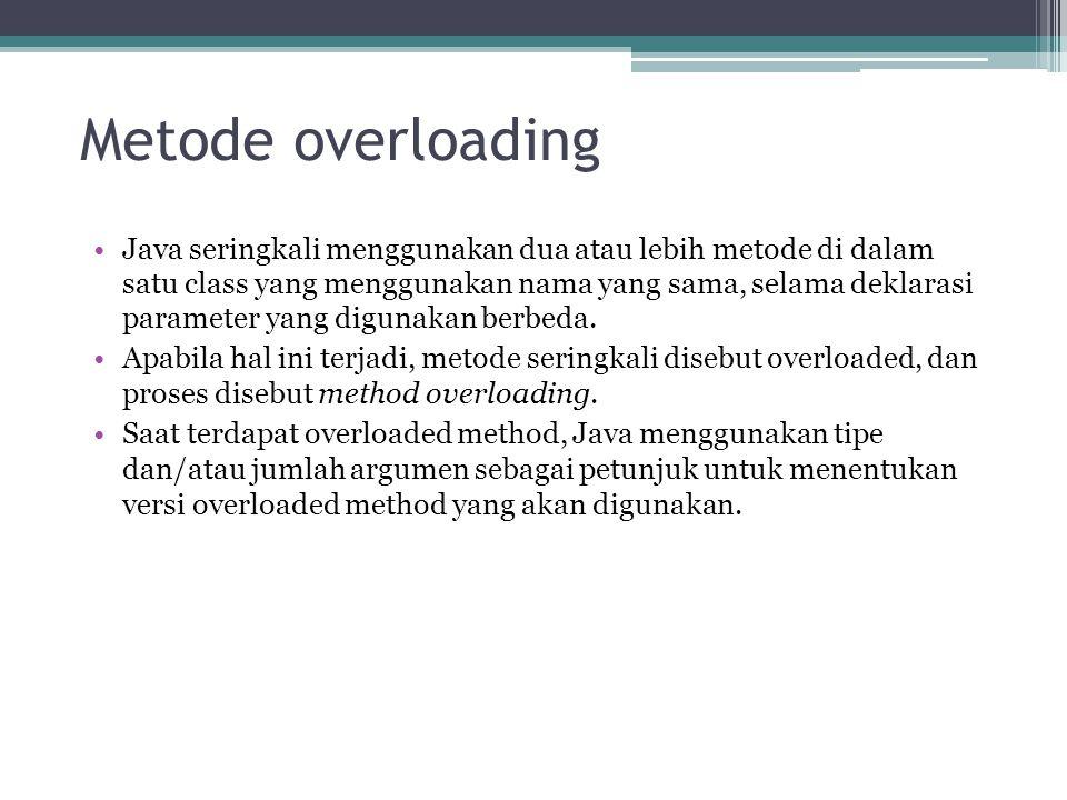 Metode overloading