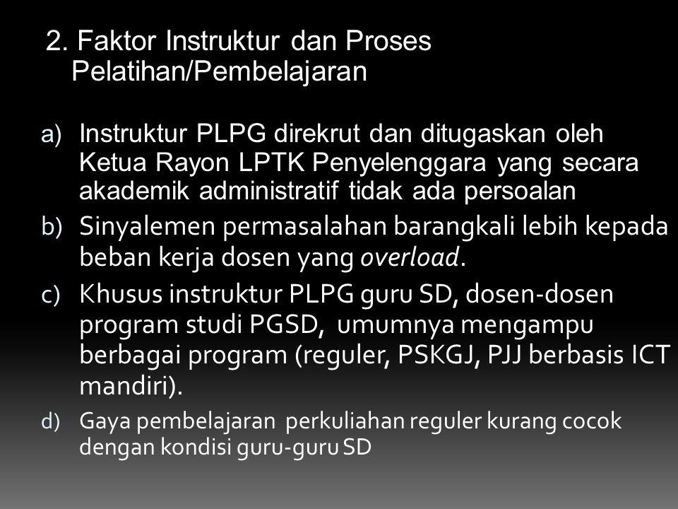 2. Faktor Instruktur dan Proses Pelatihan/Pembelajaran