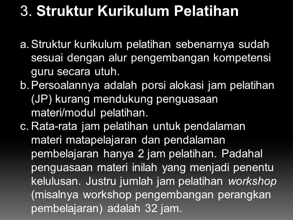 3. Struktur Kurikulum Pelatihan