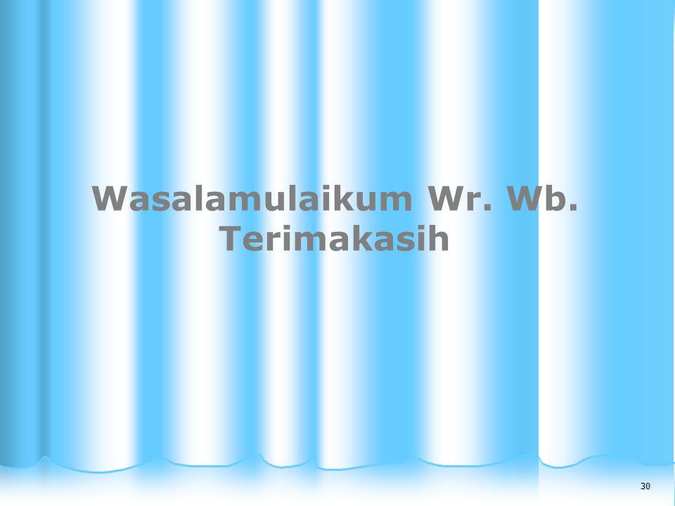 Wasalamulaikum Wr. Wb. Terimakasih