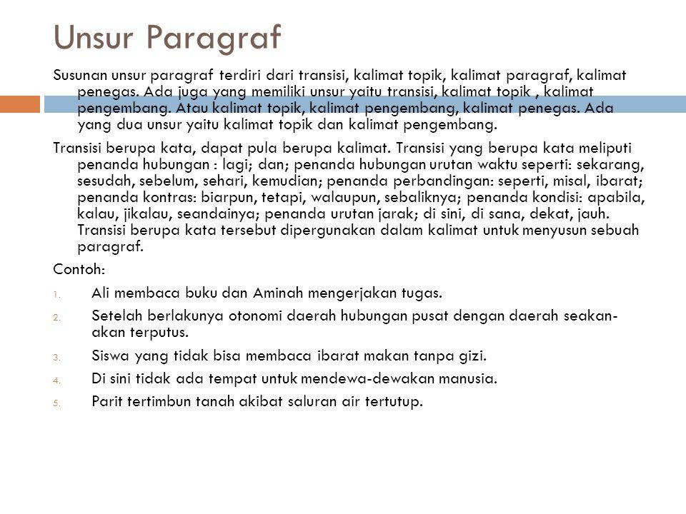 Unsur Paragraf