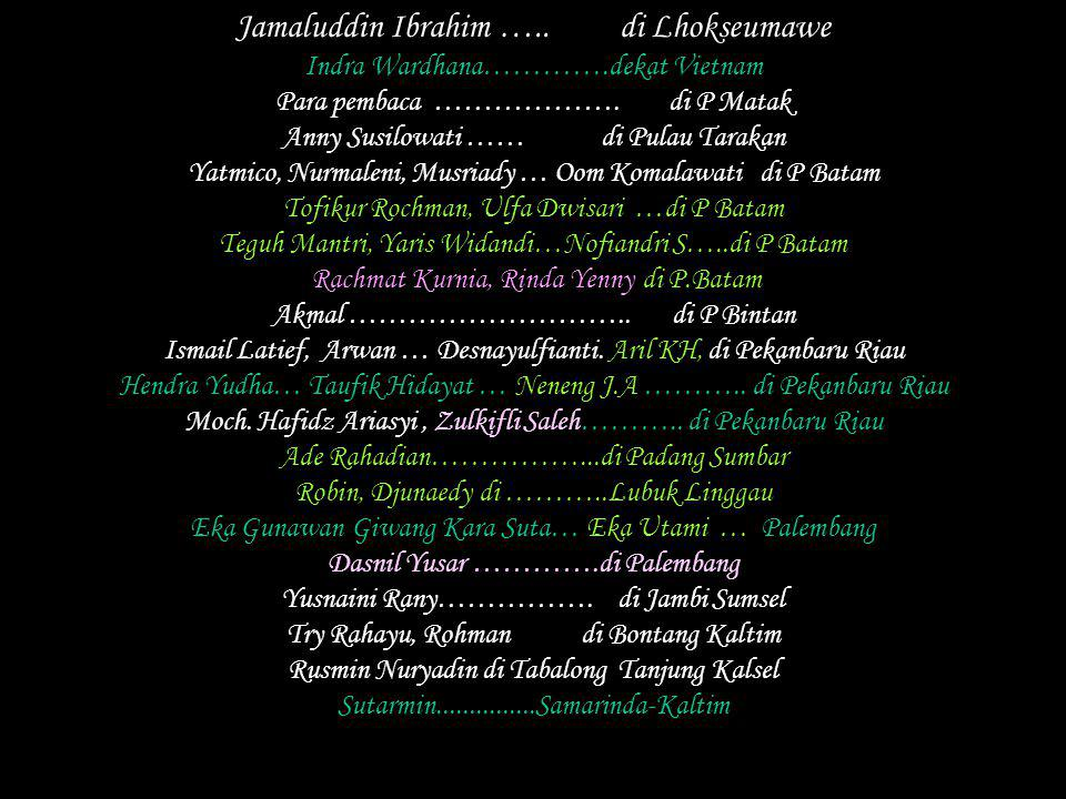 Jamaluddin Ibrahim ….. di Lhokseumawe