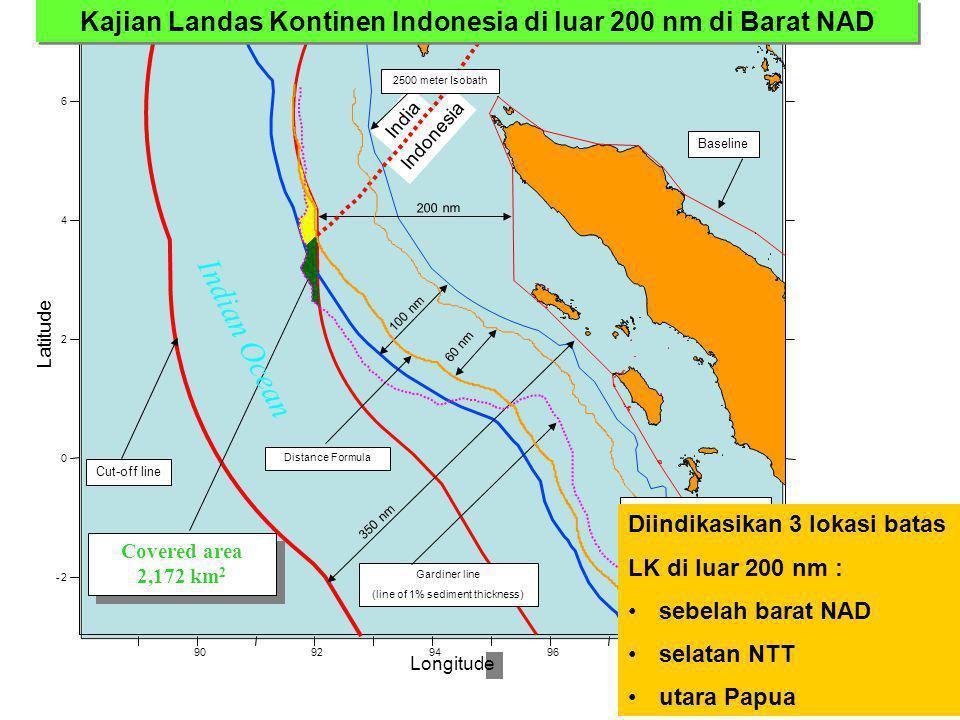 Kajian Landas Kontinen Indonesia di luar 200 nm di Barat NAD