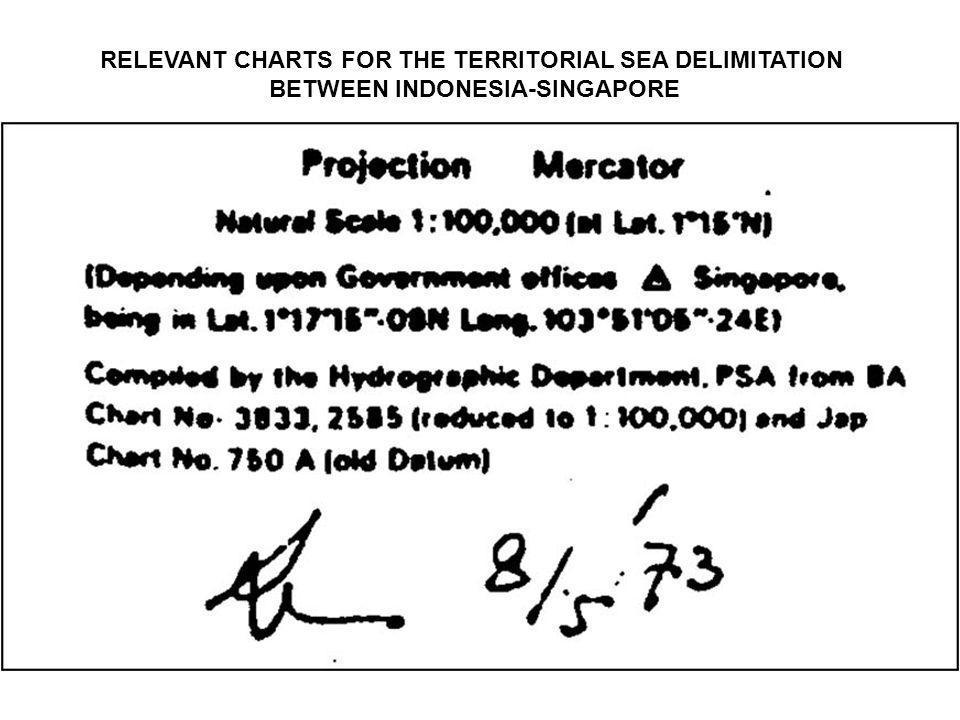 RELEVANT CHARTS FOR THE TERRITORIAL SEA DELIMITATION