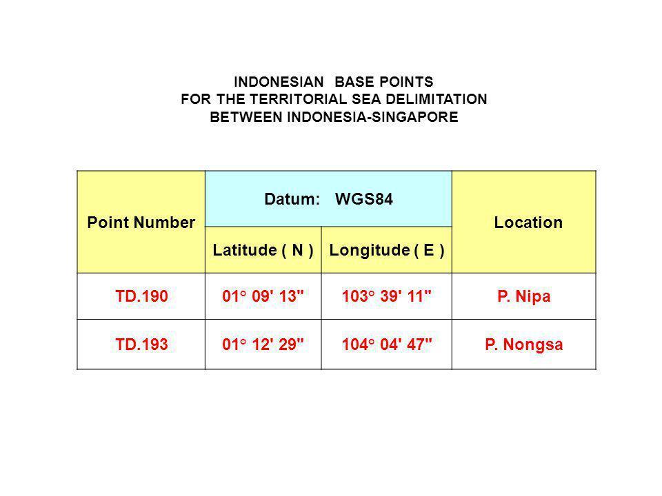 Point Number Datum: WGS84 Location Latitude ( N ) Longitude ( E )