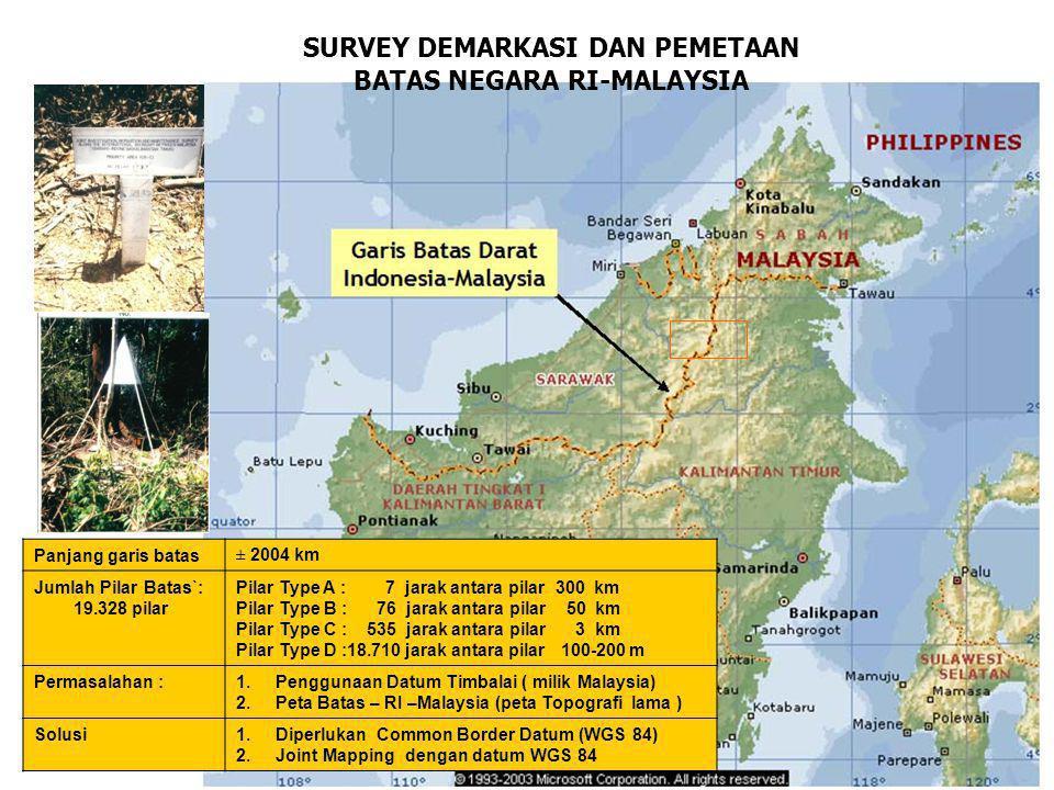 SURVEY DEMARKASI DAN PEMETAAN BATAS NEGARA RI-MALAYSIA