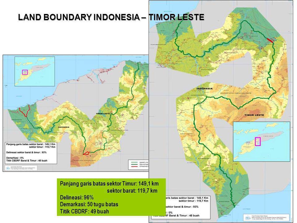 LAND BOUNDARY INDONESIA – TIMOR LESTE