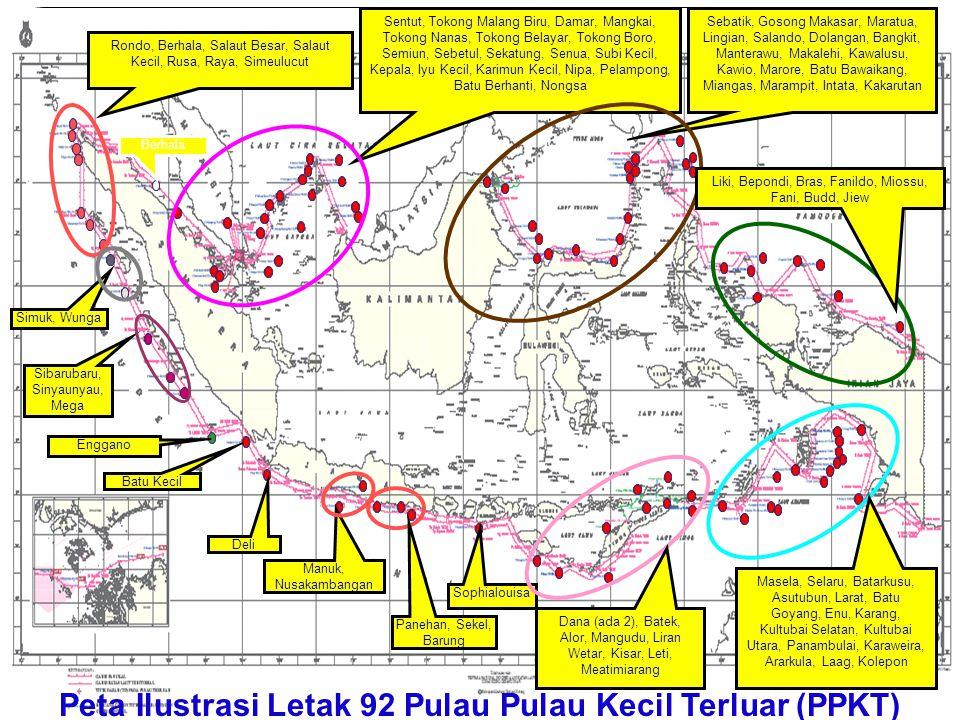 Peta Ilustrasi Letak 92 Pulau Pulau Kecil Terluar (PPKT)