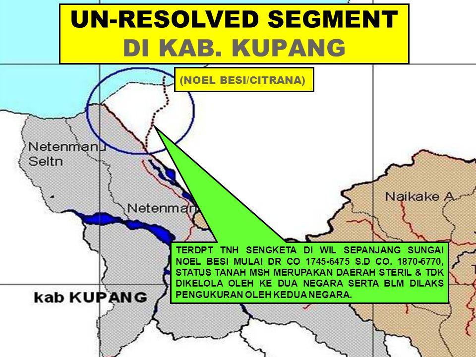 UN-RESOLVED SEGMENT DI KAB. KUPANG