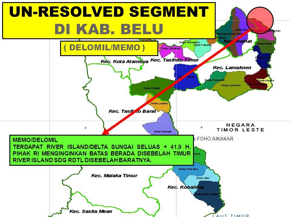UN-RESOLVED SEGMENT DI KAB. BELU