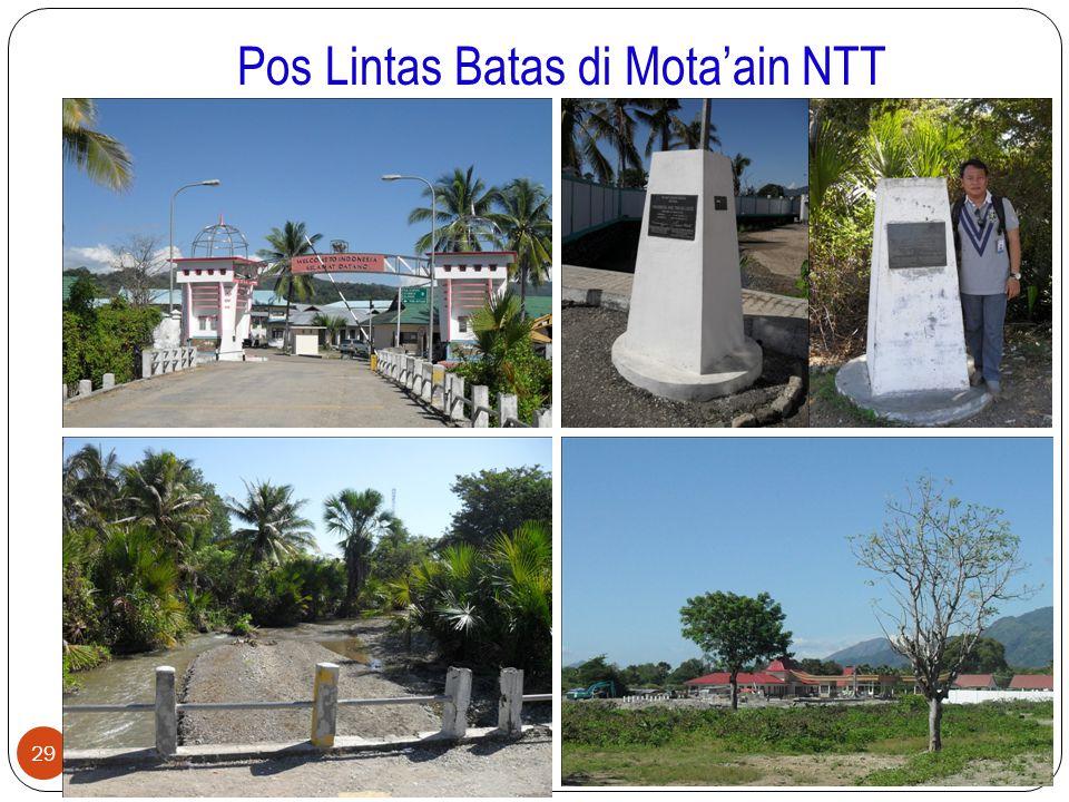 Pos Lintas Batas di Mota'ain NTT