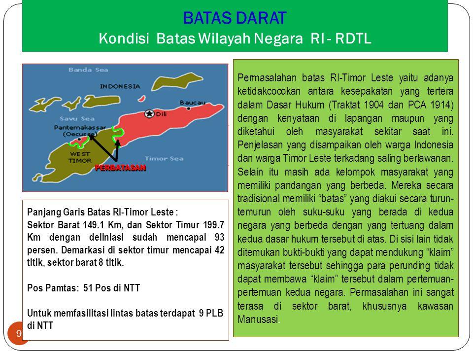 BATAS DARAT Kondisi Batas Wilayah Negara RI - RDTL