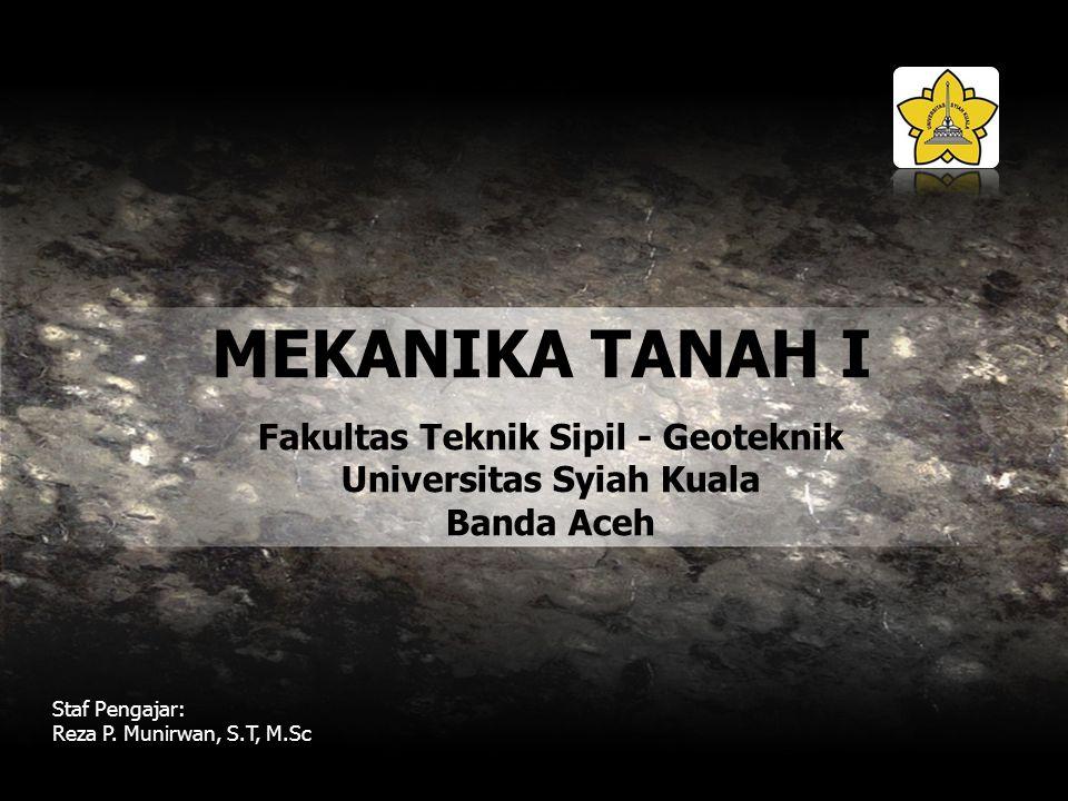 Fakultas Teknik Sipil - Geoteknik Universitas Syiah Kuala Banda Aceh