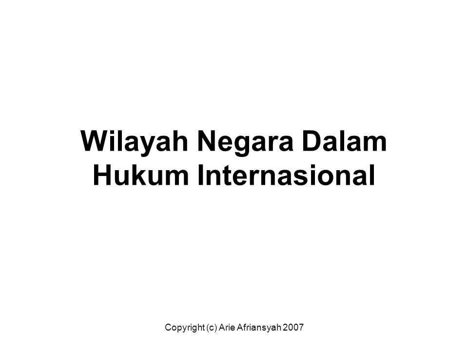 Wilayah Negara Dalam Hukum Internasional