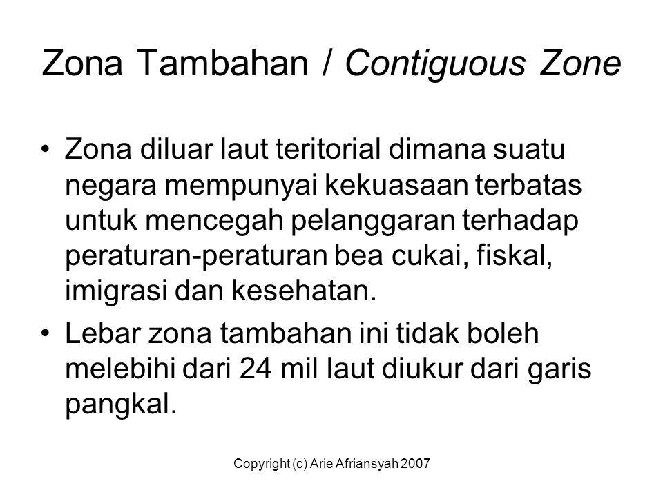 Zona Tambahan / Contiguous Zone