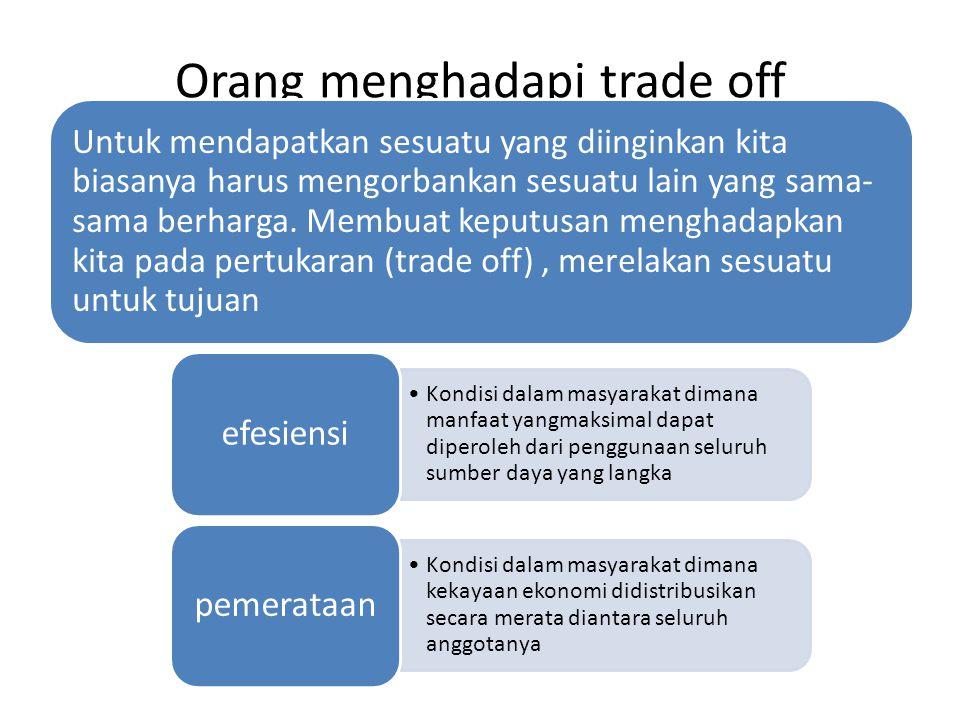 Orang menghadapi trade off