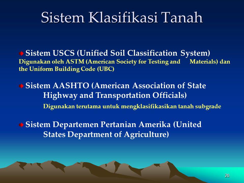 Sistem Klasifikasi Tanah