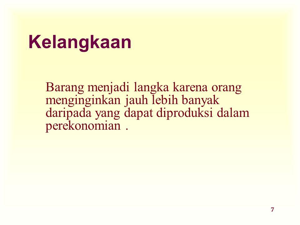 Dinnul Alfian Akbar 2007 Kelangkaan.