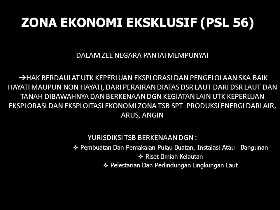 ZONA EKONOMI EKSKLUSIF (PSL 56)