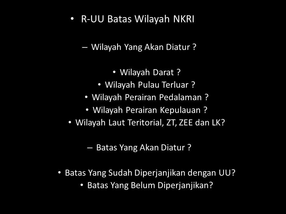 R-UU Batas Wilayah NKRI