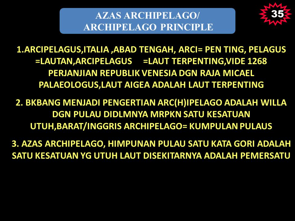 ARCHIPELAGO PRINCIPLE