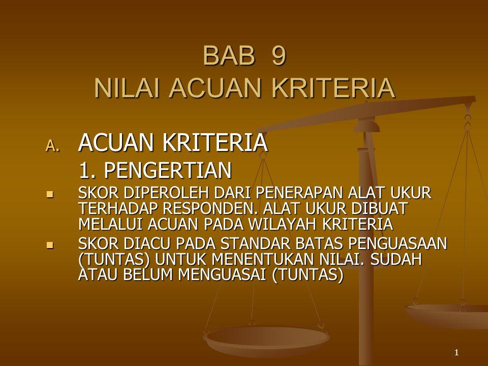 BAB 9 NILAI ACUAN KRITERIA