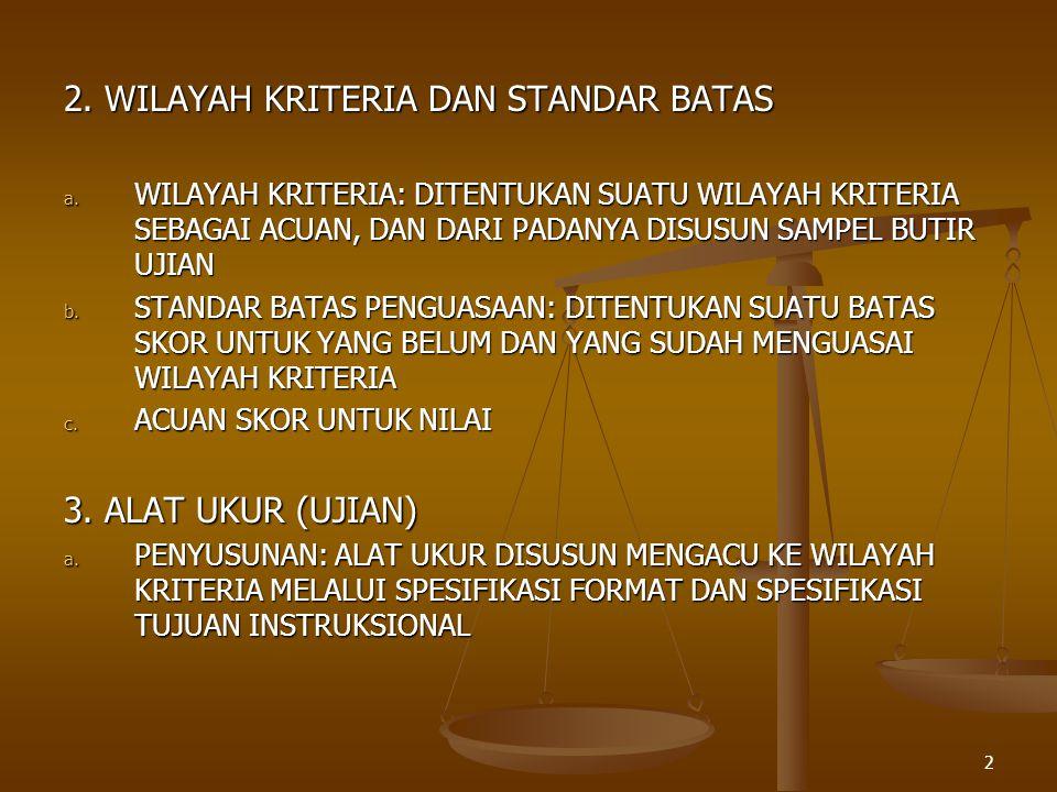 2. WILAYAH KRITERIA DAN STANDAR BATAS