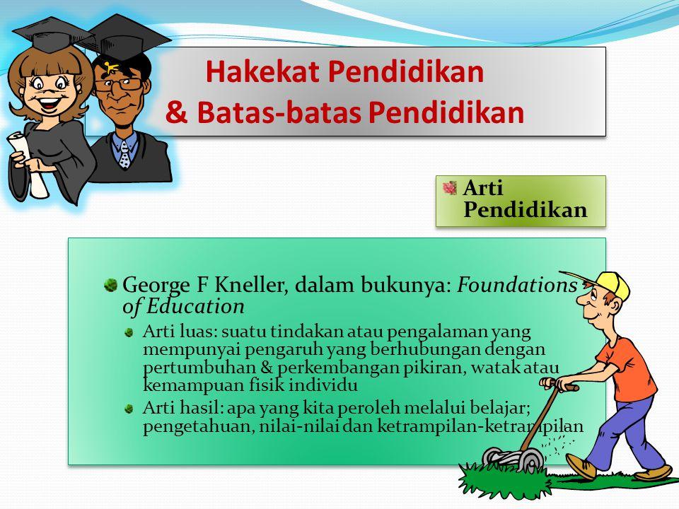 & Batas-batas Pendidikan