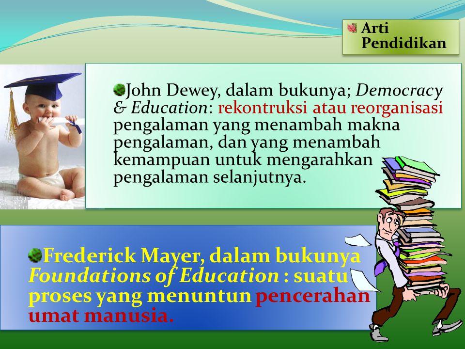 Arti Pendidikan