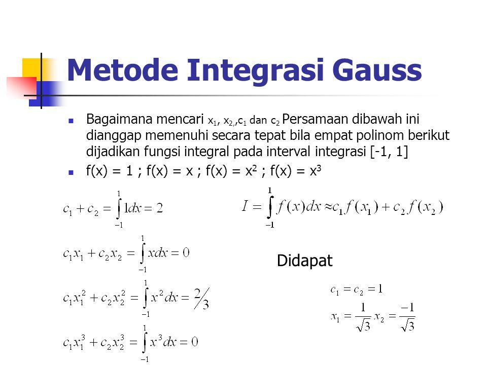Metode Integrasi Gauss