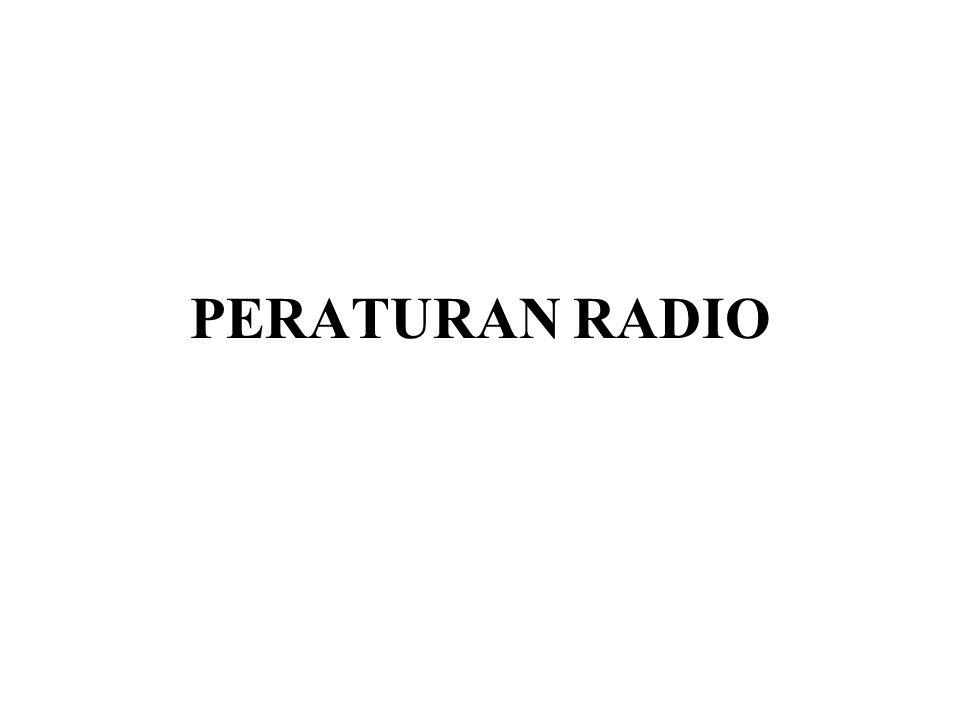 PERATURAN RADIO