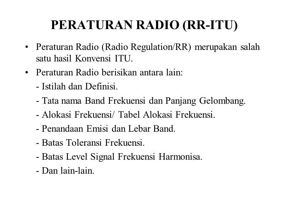 PERATURAN RADIO (RR-ITU)
