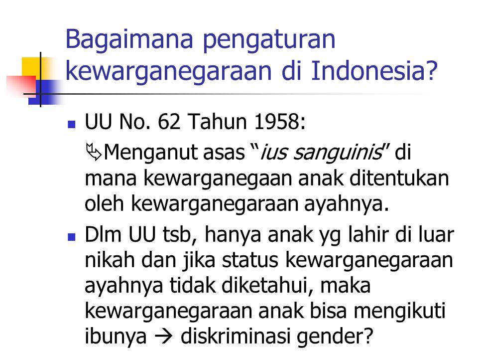 Bagaimana pengaturan kewarganegaraan di Indonesia