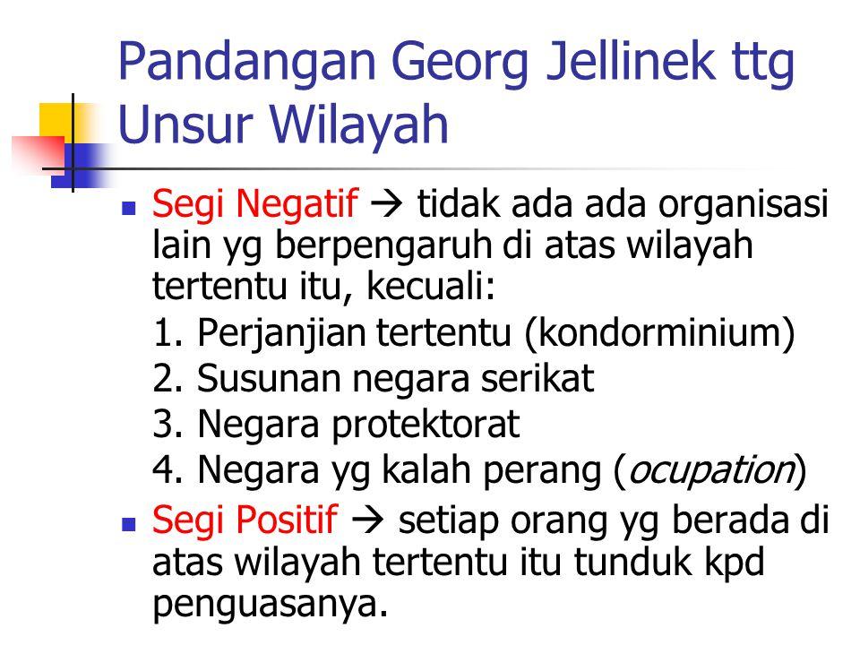 Pandangan Georg Jellinek ttg Unsur Wilayah