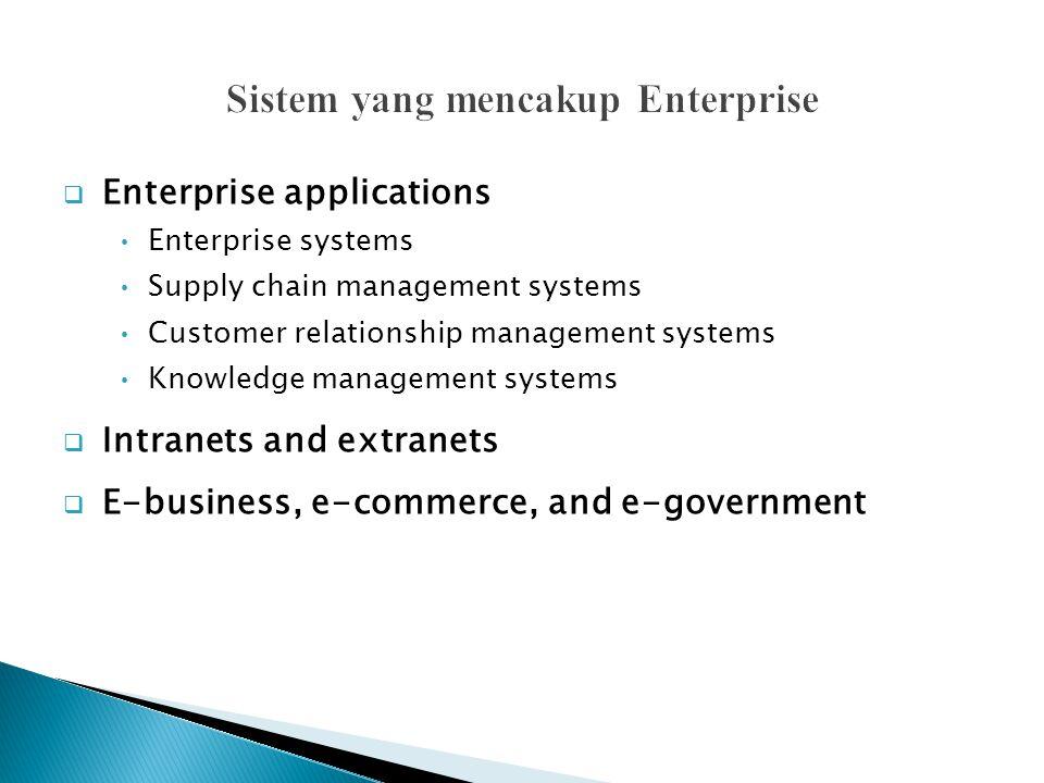 Sistem yang mencakup Enterprise