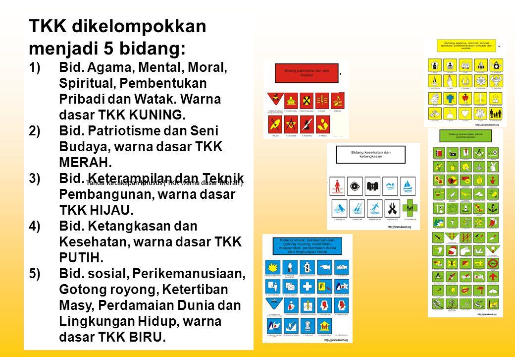 TKK dikelompokkan menjadi 5 bidang: