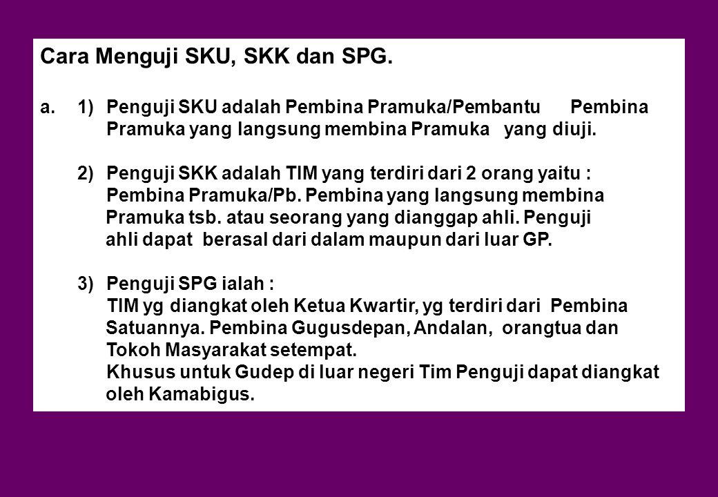 Cara Menguji SKU, SKK dan SPG.