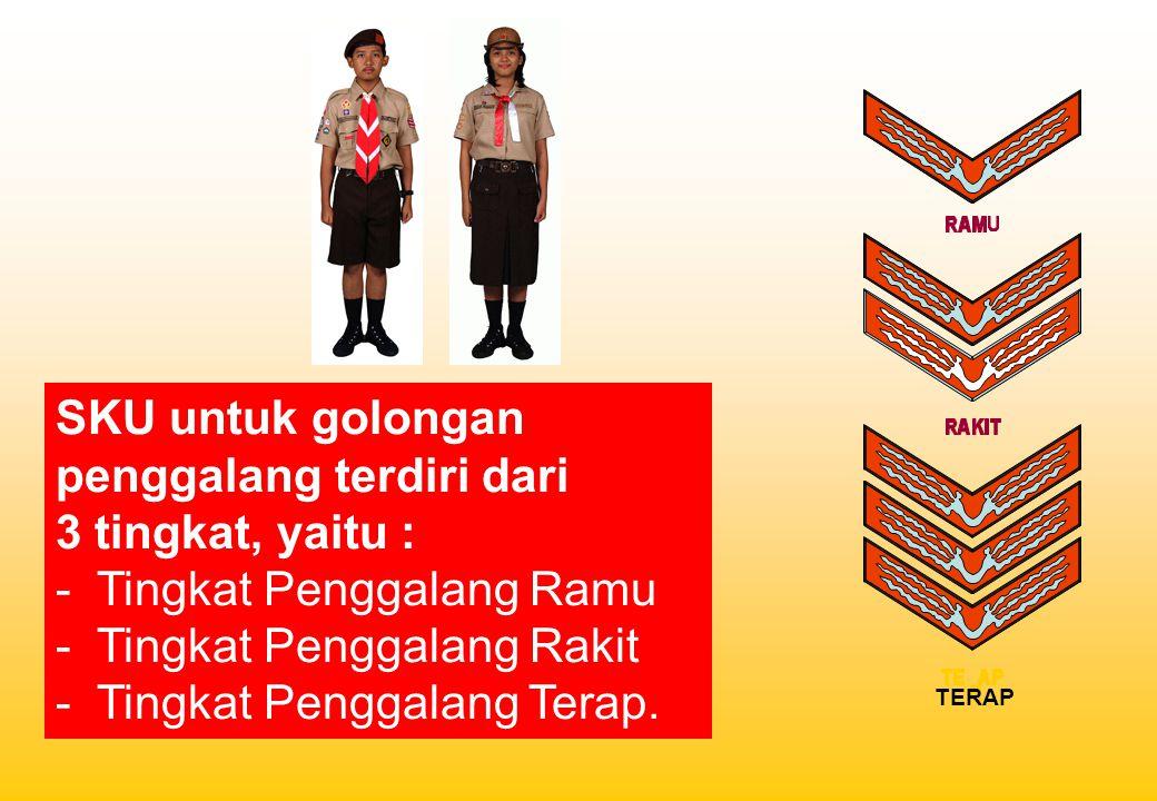 SKU untuk golongan penggalang terdiri dari 3 tingkat, yaitu :