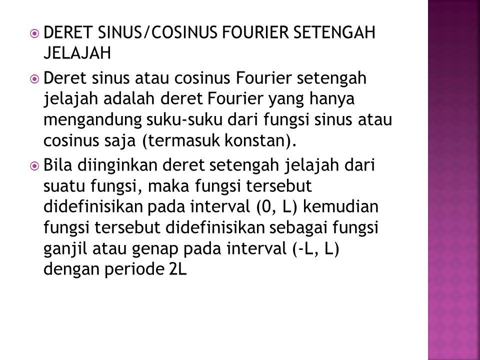 DERET SINUS/COSINUS FOURIER SETENGAH JELAJAH