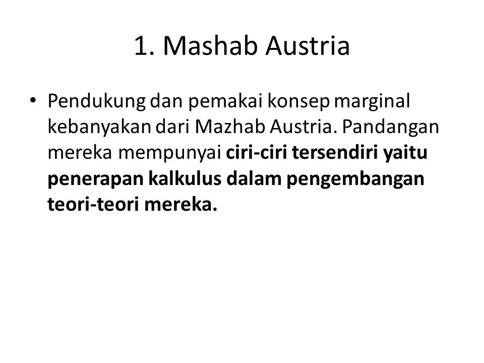 1. Mashab Austria