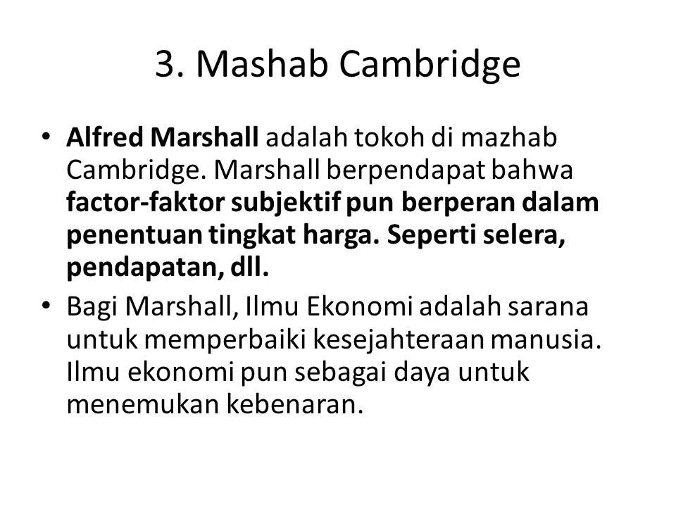 3. Mashab Cambridge