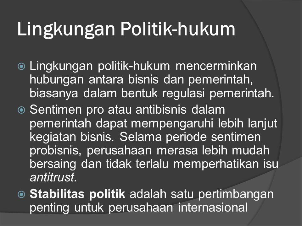 Lingkungan Politik-hukum